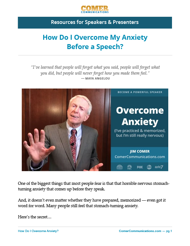 How Do I Overcome My Anxiety Before a Speech?
